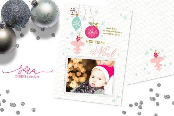 Christmas Card Template For Photographers Template For Etsy Holiday Card Template Christmas Card Template Christmas Cards