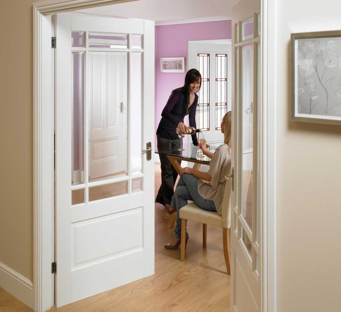 White Interior Doors With Beveled Glass Glass Doors Pinterest
