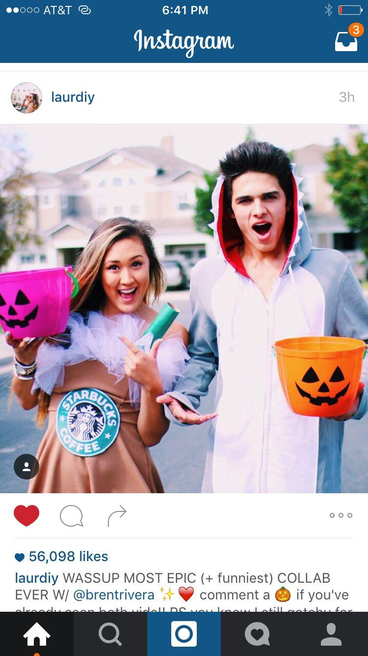 Diy Starbucks costume!! I want this Brent rivera