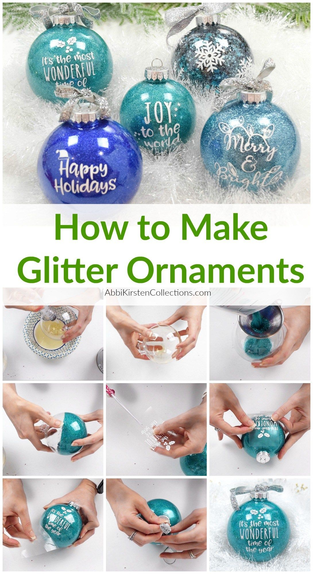 Diy Glitter Ornaments How To Make Your Own Custom Ornaments In 2020 Glitter Ornaments Diy Homemade Glitter Glitter Ornaments