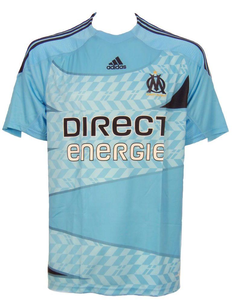 Adidas Fussball Trikot Olympique Marseille Hellblau Gr L