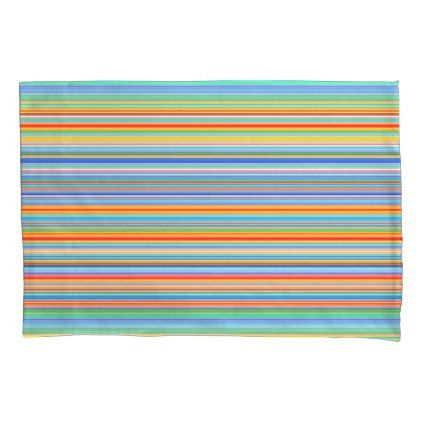 Multicolor Striped Pattern Pillow Case