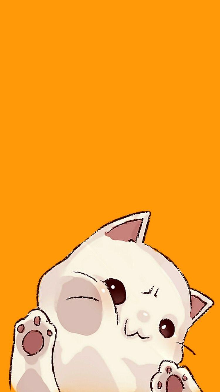 Wallpaper Lockscreen Background Cat Orange Tumblr Cute Cat Wallpaper Cute Cartoon Wallpapers Cat Background