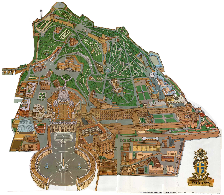 Map Of Vatican City Carte Italie Italie Cartes