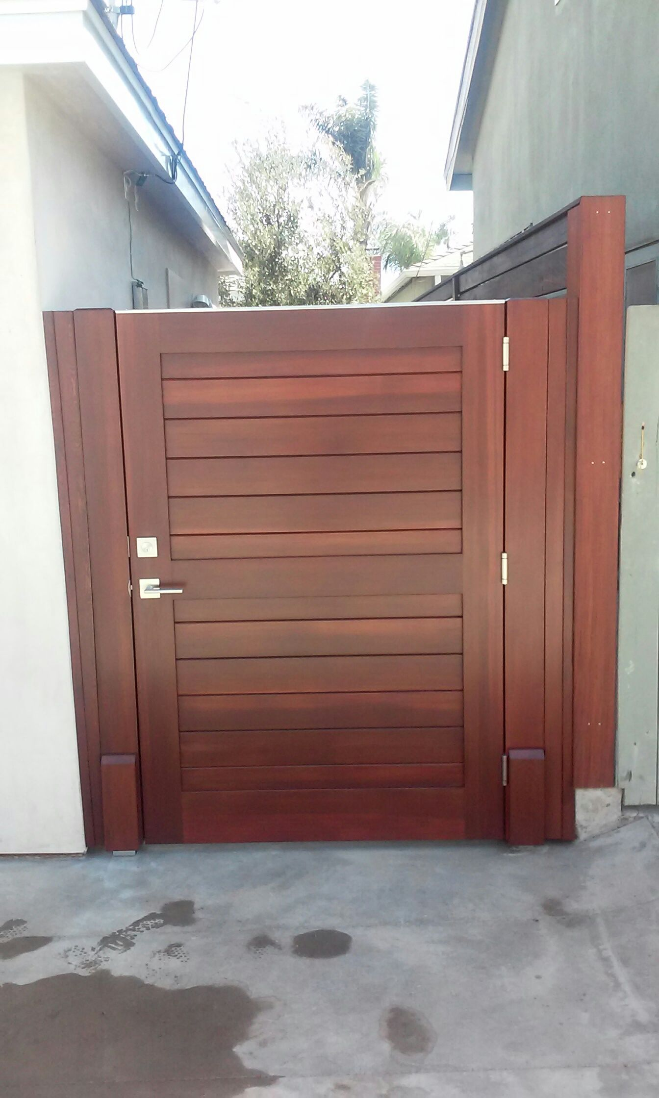 Custom Wood Gate with Horizontal Body by Garden Passages ...