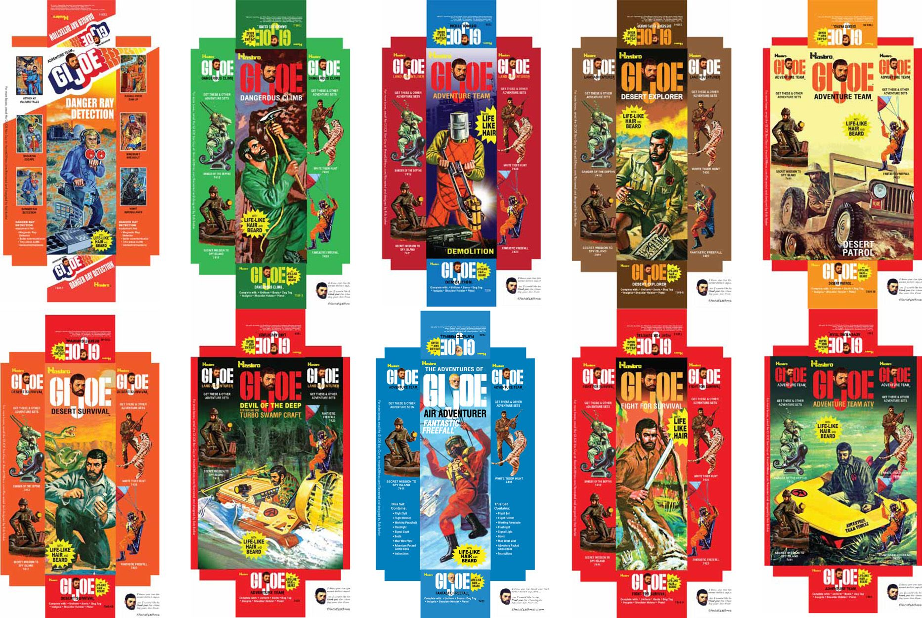 GI JOE Adventure Team vintage style coffin boxes -/>MANY TO CHOOSE FROM!