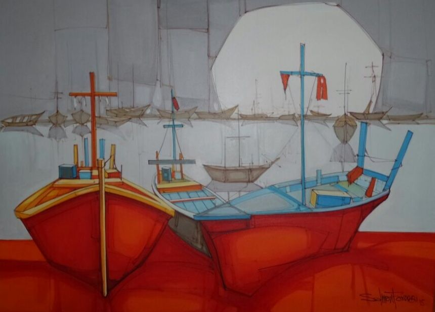Salman Farooqi's Painting in Landscapes Category | LouvrePakistan.com