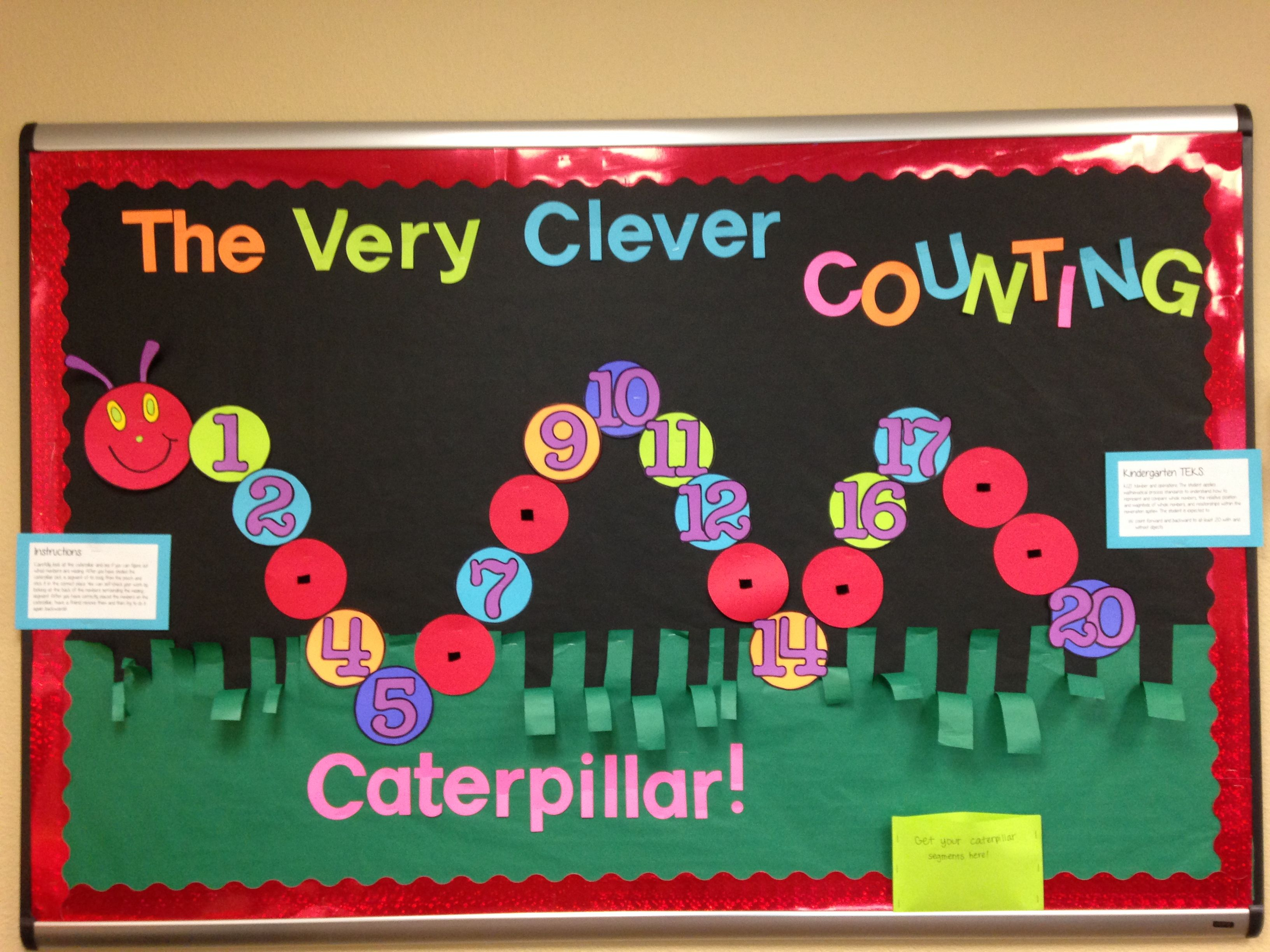 Kindergarten Bulletin Board The Very Hungry Caterpillar