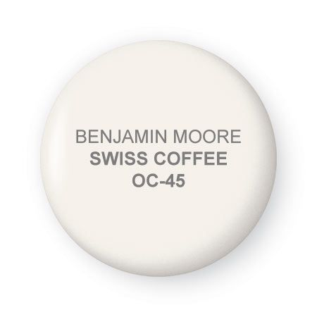 Swiss Coffee Paint By Benjamin Moore This Color Lets Elements In The Room Shine But Holds Its Own Best F Front Foyer Ideas