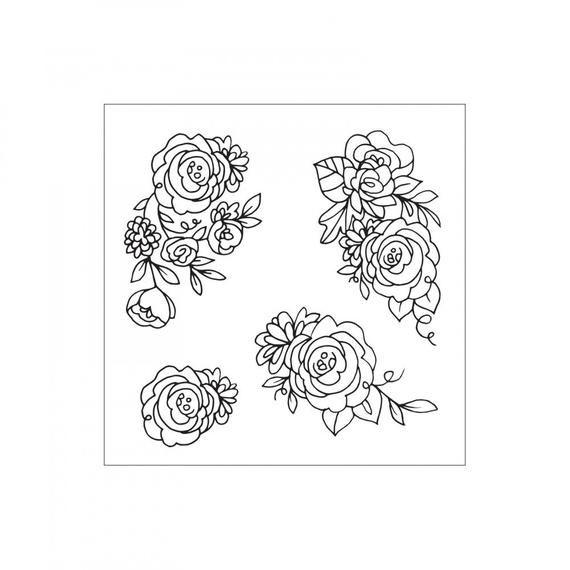 Heart Garland by David Tutera 662643 Sizzix Framelits Die Set w//Stamps