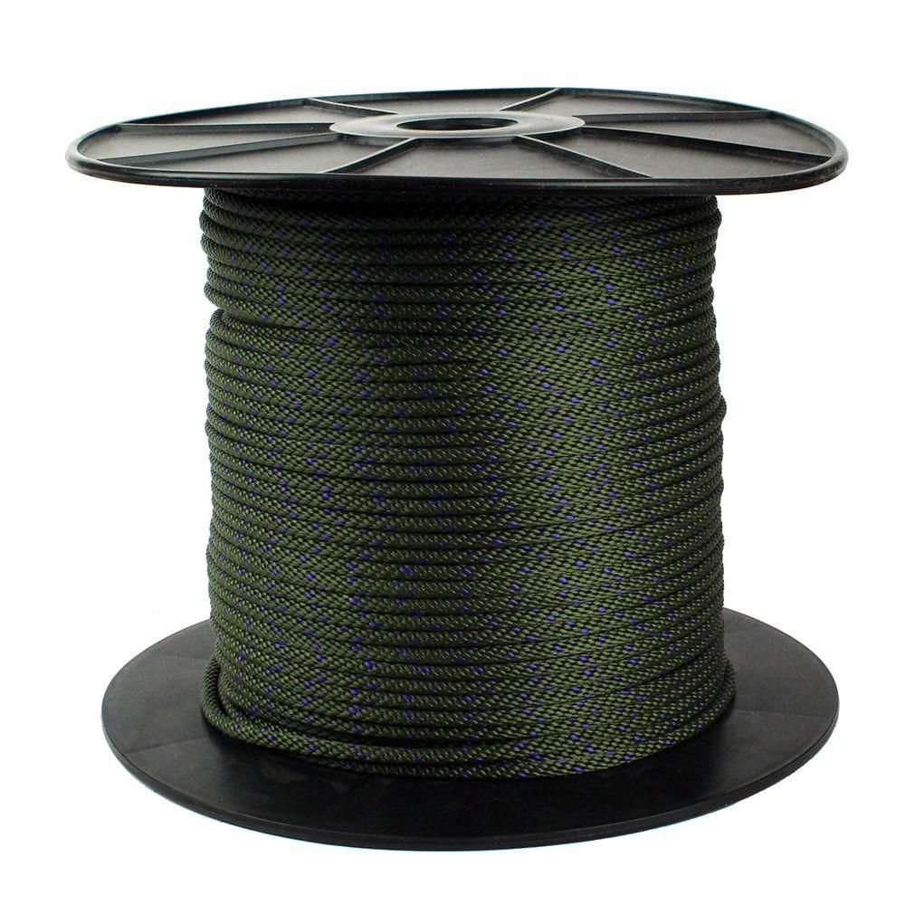 Crown Bolt 1 4 In X 750 Ft Dark Green Polypropylene Diamond Braid Rope With Rope Reel 64810 In 2020 Fishing Line Fish Green