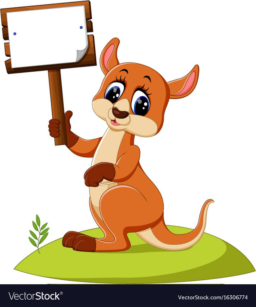 Illustration Of Cute Kangaroo Cartoon Download A Free Preview Or High Quality Adobe Illustrator Ai Eps Pdf And High Resolution Cartoons Vector Cartoon Cute