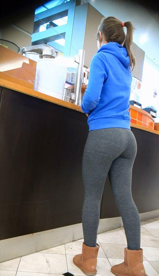 girl in sport tights