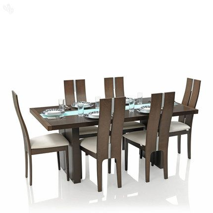 Buy Royal Oak Dining Table Set with 6 Chairs Solid Wood - Modern ...