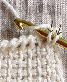 Fantastic introductory TRUTORIAL on Tunisian crochet.  Super Anleitung, da kapiert man es endlich #tunisiancrochet