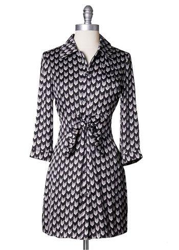 Arrow Print Shirt Dress by Tulle