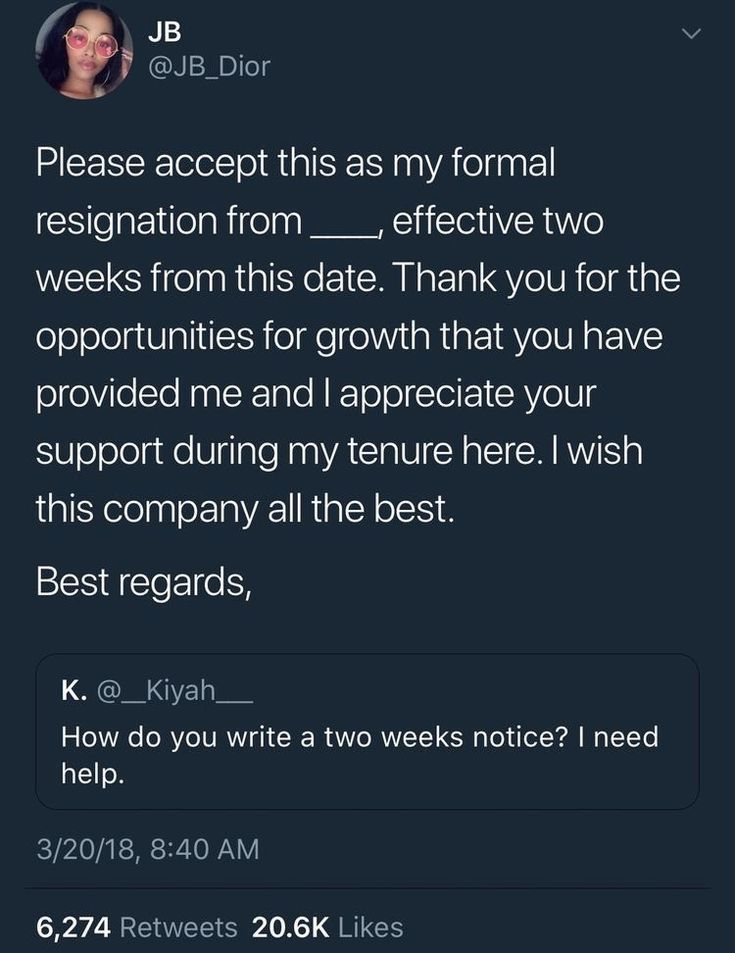 Resignation letter template Career Assistance Pinterest