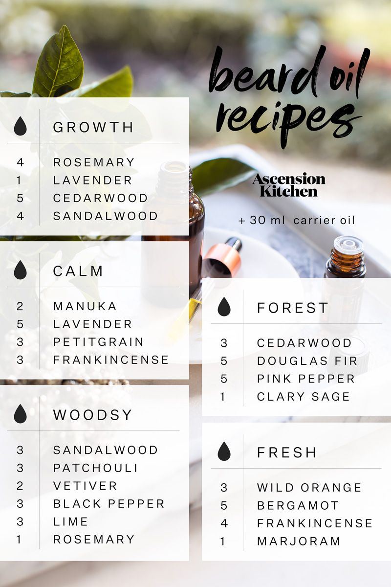 Homemade beard oil blends for healthy skin and a soft