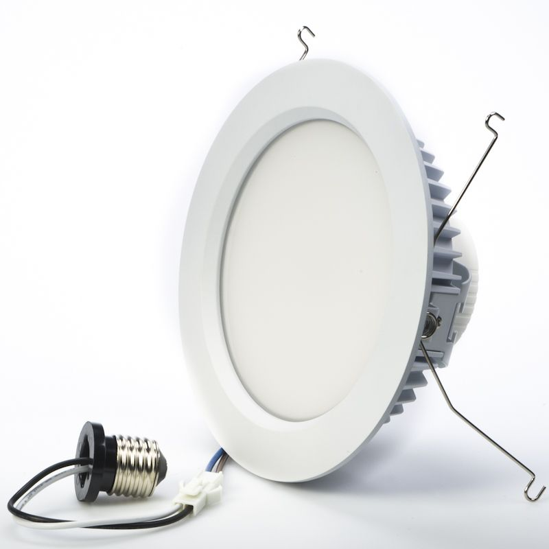 Led Recessed Lighting Kit For 6 Cans Retrofit Led Downlight W Open Trim 100 Watt Equivalent Dimmable 1 500 Lumens Led Can Lights Recessed Can Lights Led Recessed Lighting