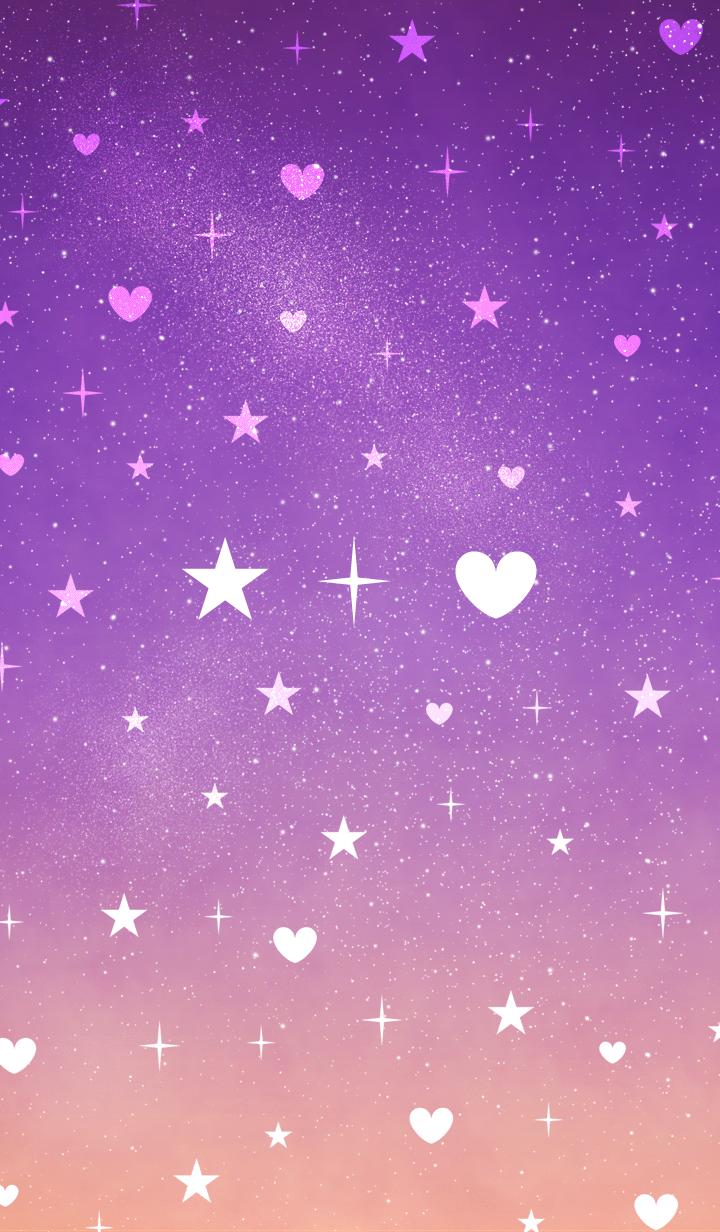Kawaii Cute Purple Background