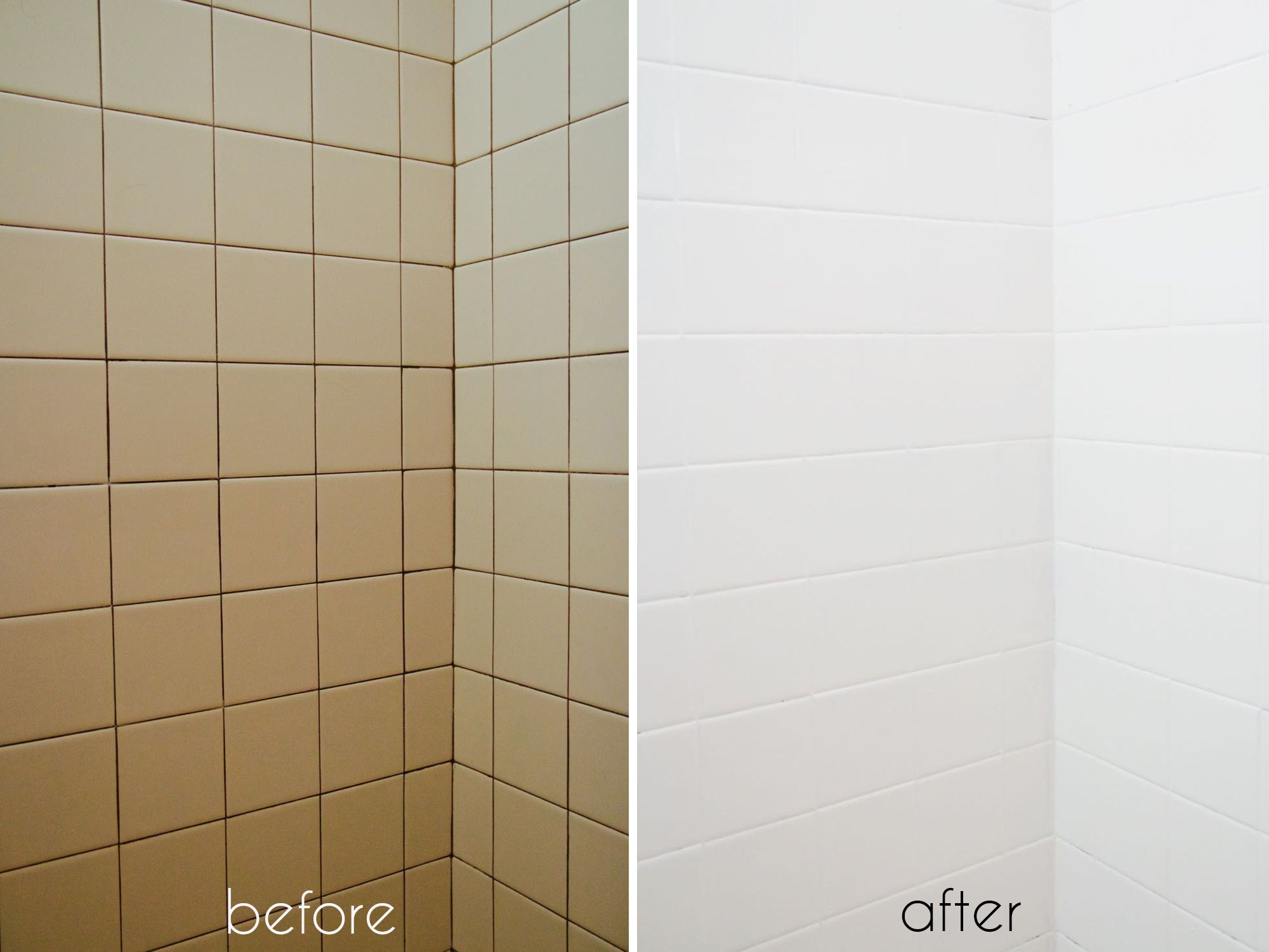 A Bathroom Tile Makeover...With Paint | Epoxy, Bathroom tiling and ...