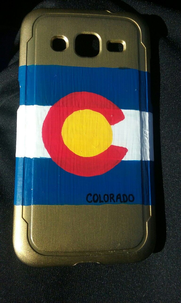 Handpainted Colorado phone case! Bought a cheap phonecase