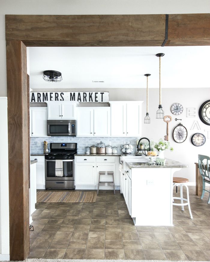 Modernized Bungalow Kitchen Renovation: Modern Farmhouse Kitchen Makeover Reveal