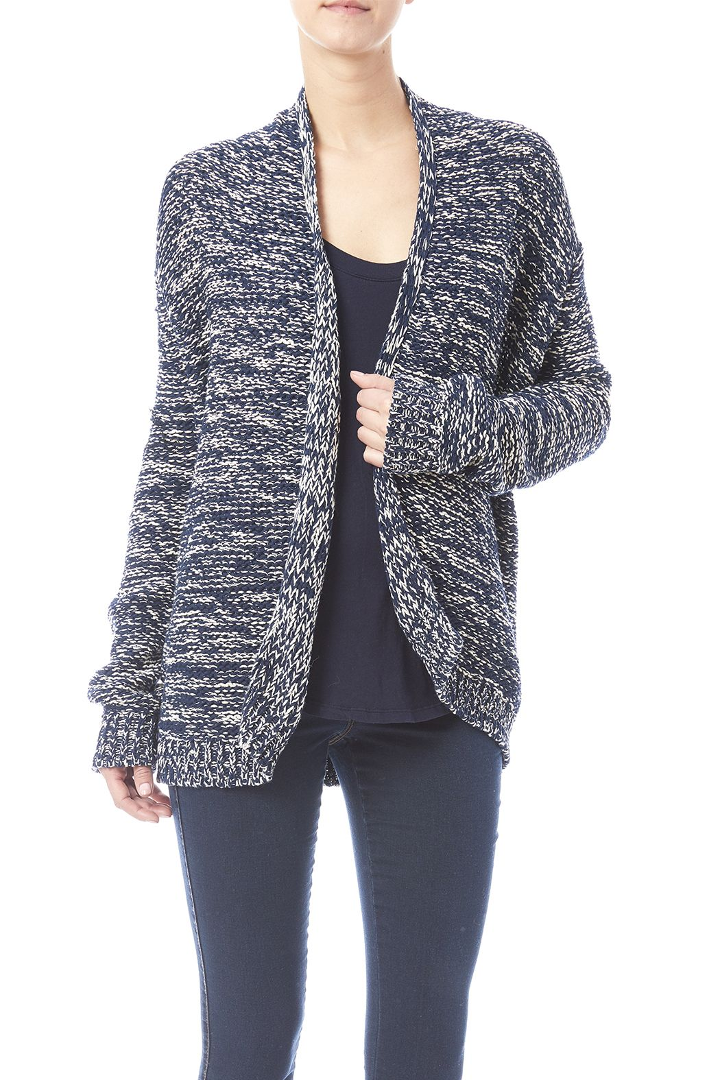 h.one Navy And White Cardigan | White cardigan, Navy and Boutique