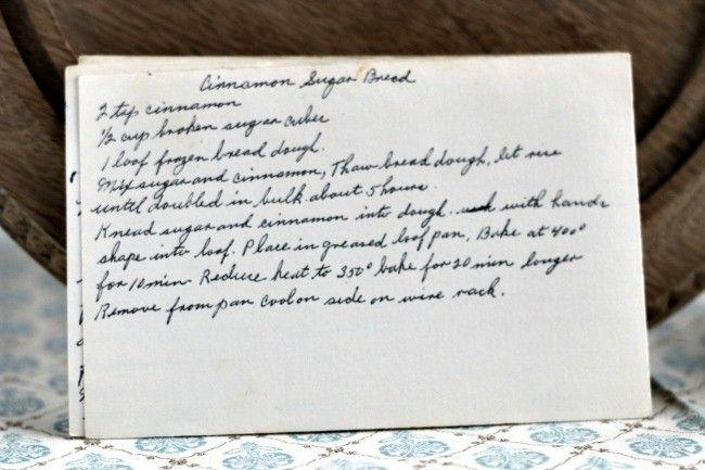 A classic vintage recipe from the files - Cinnamon Sugar Bread