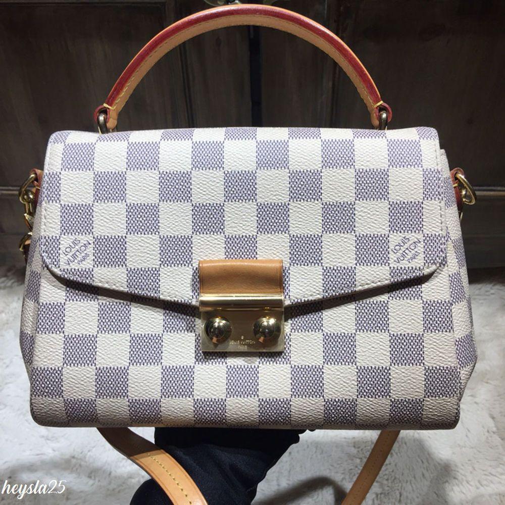 LOUIS VUITTON CROISETTE Damier Azur N41581 -100% Authentic -  fashion   clothing  shoes  accessories  womensbagshandbags (ebay link) d1efdddf0127e