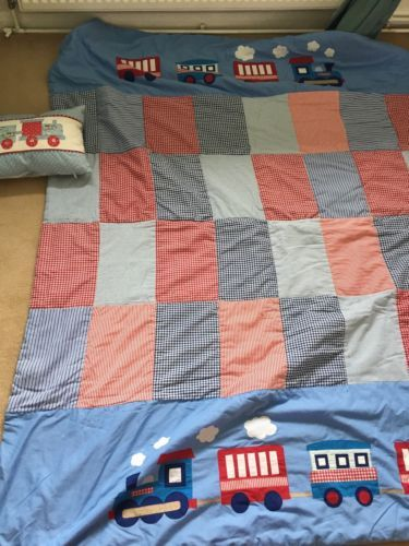 Boys #bedroom #quilt - #train,  View more on the LINK: 	http://www.zeppy.io/product/gb/2/311680651816/