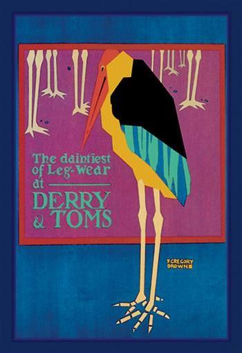Daintiest Of Leg Wear Brown Art Derry Art Prints