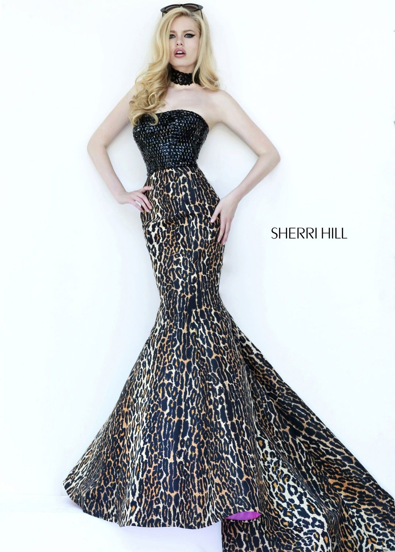 Sherri Hill 32157 Leopard Print Mermaid Dress  CrushingonRissyRoos ... 596051931