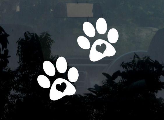 070cdb591618 Best Paw Print Decal. 2 x Paw Print Decal / Sticker. Dog / Cat Paw Print  Decal. Car Decal / Laptop