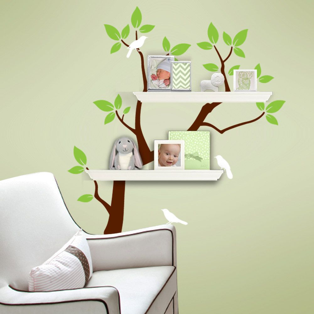 Custom Listing for Carmen - Tree Branch Decal with Birds ...