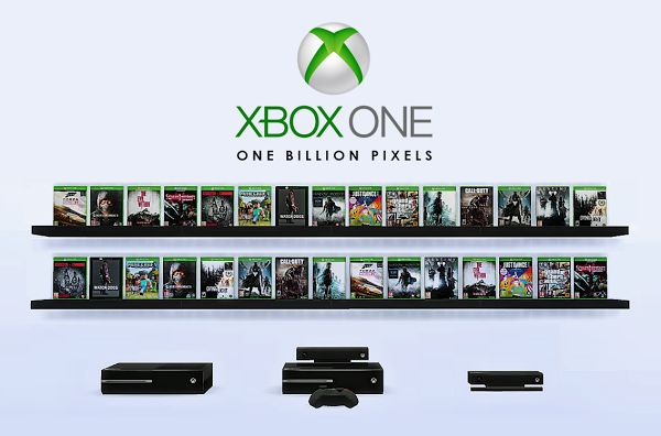 One billion pixels xbox one games consoles decor for Decoration xbox one