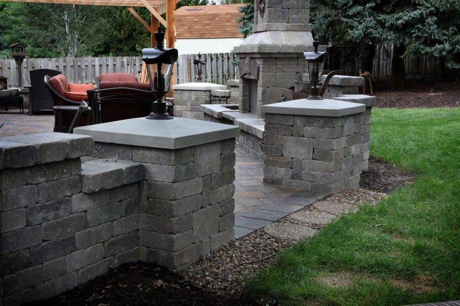 Charming Outdoor Kitchen And Patio Omaha Combining Stone Brick