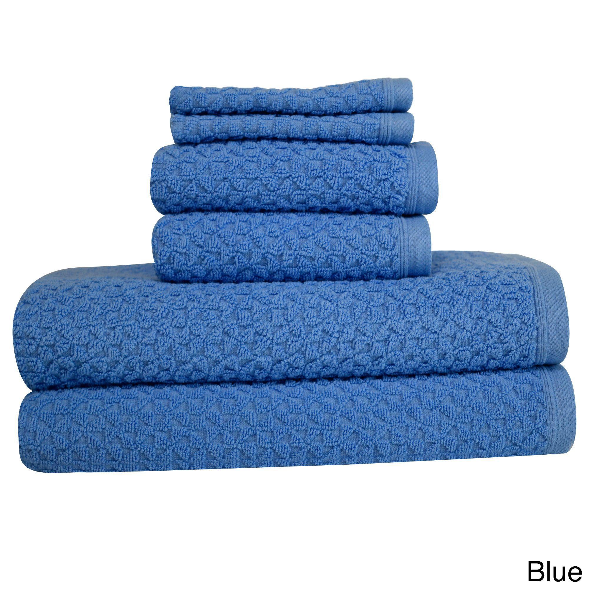 "TIC Lucia Minelli ""Hardwick"" Embossed 6-piece Towel Set"