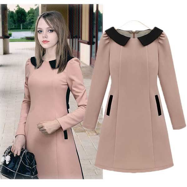 New Fashion winter dress european casual winter dress | Moda ...