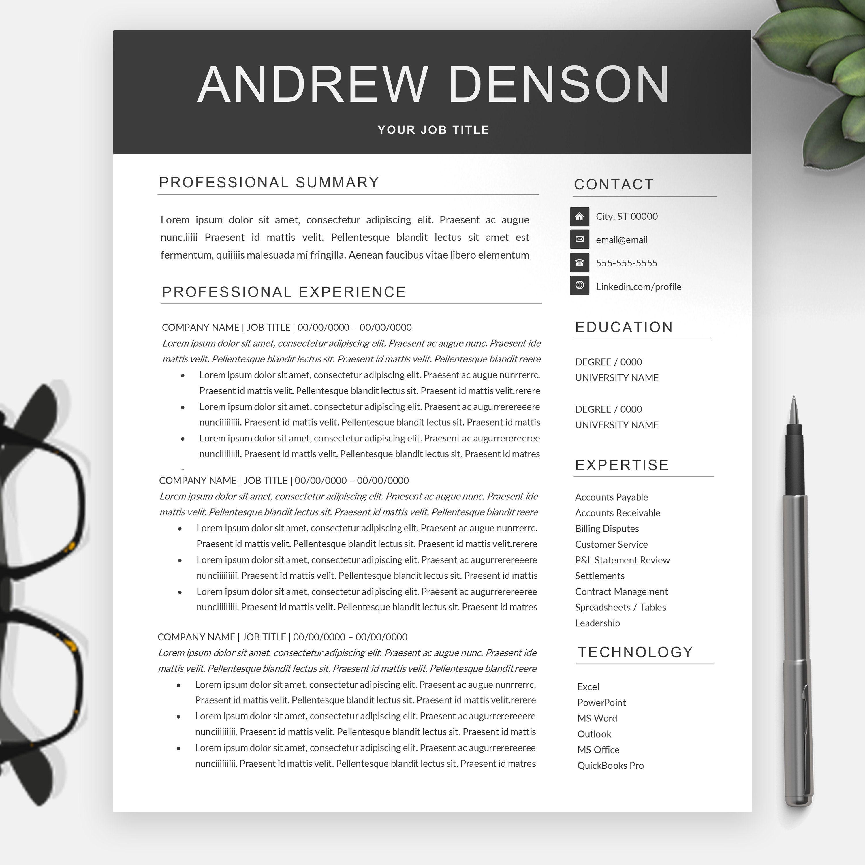 Minimalist 2page resume template resume template
