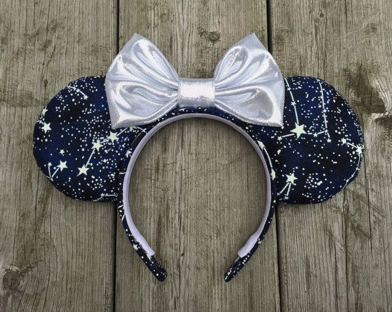 Space Mountain Inspired Mouse Ears Headband