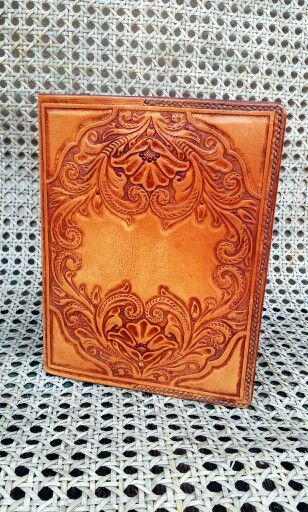 Antiqued Brown diary cover