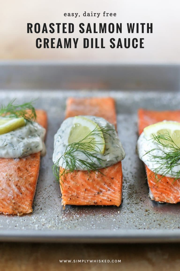 Photo of Salmon with Creamy Garlic Dill Sauce