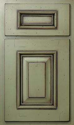 How To Glaze Dark Sage Green Cabinets