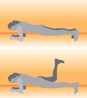 No Equipment Necessary: Elbow Plank With Donkey Kick - www.fitsugar.com