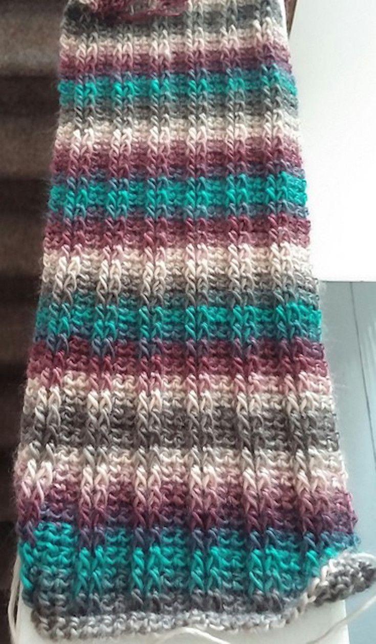 Free Pattern] Simply Beautiful Crochet Scarf | Crochet | Pinterest ...