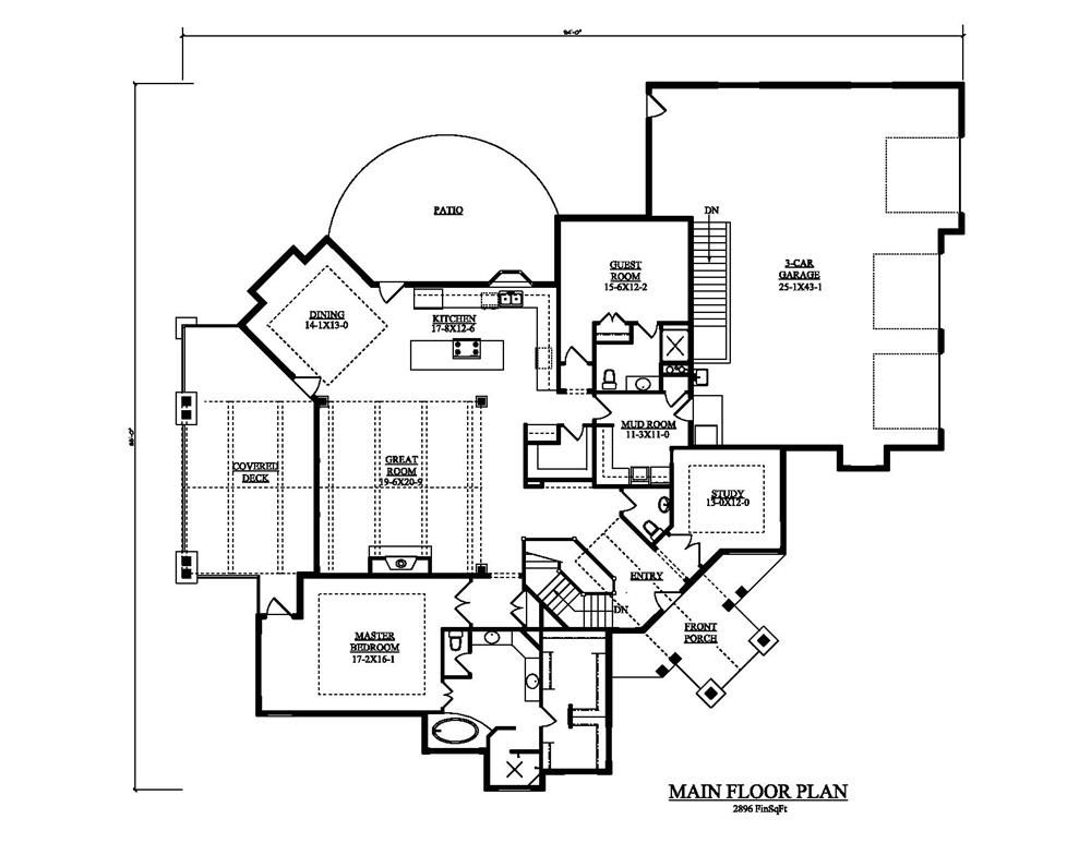 Large Images For House Plan 161 1049 House Plans Craftsman Style House Plans Craftsman House