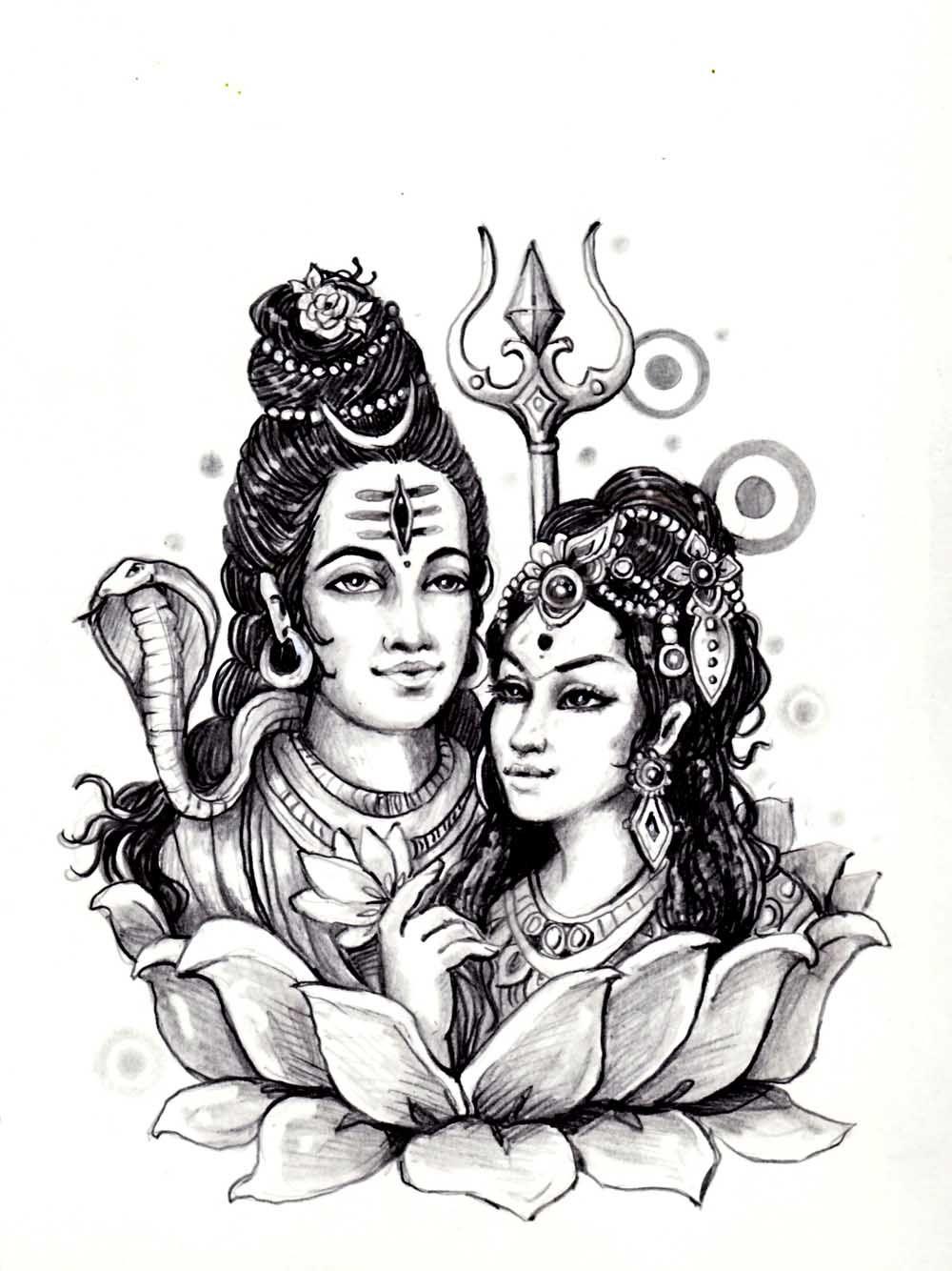 Shiva Sati India From The Gallery India Shiva Parvati Images God Illustrations Hindu Tattoo