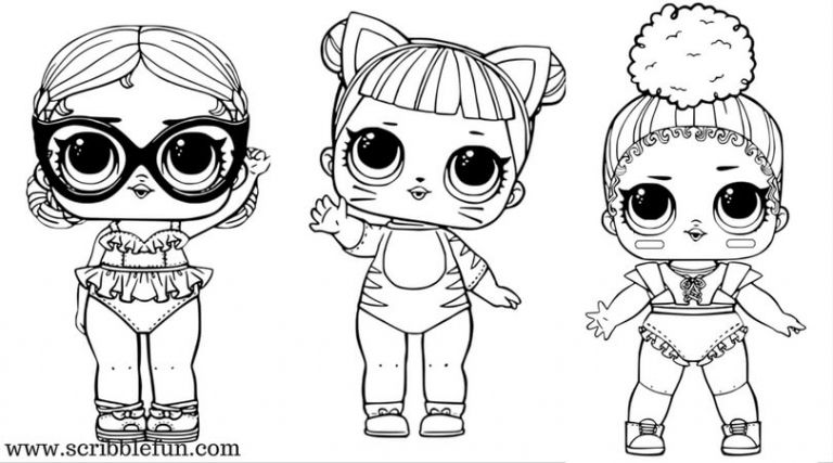 Lol Suprise Dolls Coloring Pages Free Printable With Images