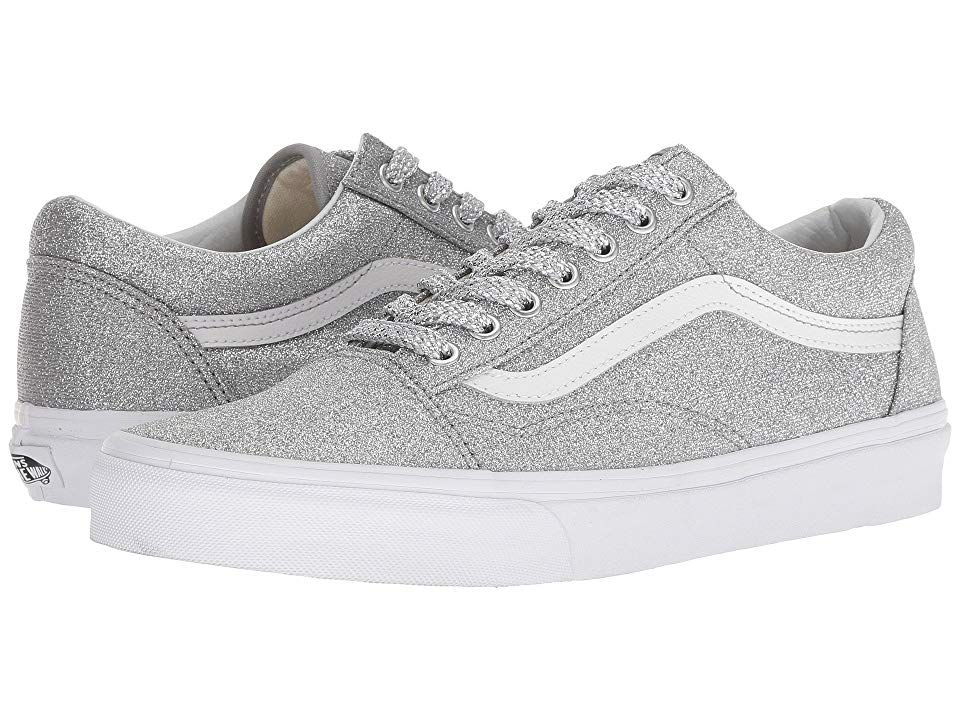 d0e503acaec Vans Old Skooltm ((Lurex Glitter) Silver True White) Skate Shoes. It s old  school or no school with the classic SoCal vibes of the Vans Old Skool shoe!